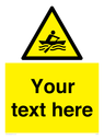 <p>Custom Warning manually powered watercraft</p> Text: