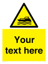 <p>Custom Warning motorised watercraft</p> Text: