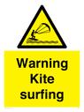 <p>Warning Kite surfing</p> Text: