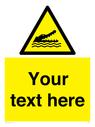 <p>Custom Warning crocodiles, alligators or cayman</p> Text: