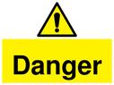 <p>Danger lift machinery</p> Text: Danger Lift machinery