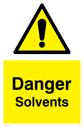 general warning symbol in warning triangle Text: Danger Solvents