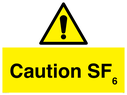 <p>Caution SF6 warning</p> Text: Caution SF6