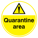 <p>Quarantine area floor graphics</p> Text: Quarantine area floor graphics