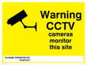 camera symbol Text: warning cctv cameras monitor this site