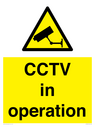 <p>CCTV in operation</p> Text: