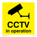 <p>cctv camera symbol - sign</p> Text: c.c.t.v. in operation