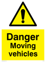 exclamation in warning triangle Text: danger moving vehicles