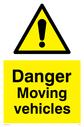 danger moving vehicles Text: danger moving vehicles