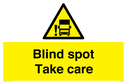 Blind Spot Take care with Blind Spot Warning symbol Text: Blind Spot Take care