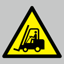 <p>Warning fork lift trucks floor graphics</p> Text: Warning fork lift trucks floor graphics triangle