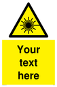 pcustom-laser-hazard-sign-add-your-own-custom-text-normal-delivery-times-apply-y~