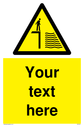 Custom Deep Water Sign. Add your own custom text. Normal delivery times apply. Yellow Deep Water Symbol. This symbol and sign layout complies with new EN7010 legislation that governs safety signs. Text: Your text here - just add to your order and fill in the 'special instructions' box at the basket to confirm your required text.