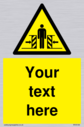 custom-crushing-hazard-sign-add-your-own-custom-text-normal-delivery-times-apply~