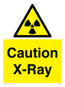 radiation symbol in warning triangle Text: Caution X-Ray