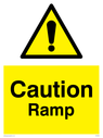 General warning symbol in warning triangle Text: Caution Ramp