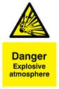 explosive symbol in warning triangle Text: Danger Explosive atmosphere