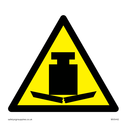 Heavy symbol in warning triangle Text: None