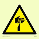 Sharp object in warning triangle Text: None