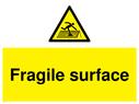 <p>Fragile surface with fragile symbol</p> Text: Fragile surface