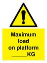 <p>Maximum load on platform _____KG</p> Text: