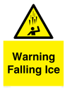 <p>Warning Falling Ice</p> Text: