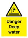 <p>Danger Deep water</p> Text: