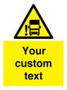 <p>Custom warning blindspot</p> Text: