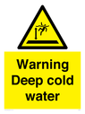 <p>Warning Deep cold water </p> Text: