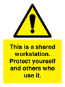 <p>This is a shared workstation. Protect yourself and others who use it.</p> Text: