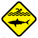 <p>Jaws sign </p> Text: Jaws