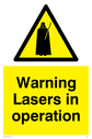 Star Wars. Lasers in operation. Text: Lasers in operation.