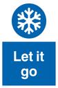 Frozen. Let it snow. Text: Let it go