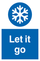 Frozen. Let it snow. Text: Let it go
