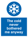 <p>Frozen. The cold never bothered me anyway.</p> Text: The cold never bothered me anyway