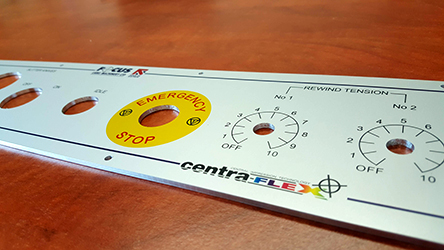 3mm Aluminium anoprinted control panel facias