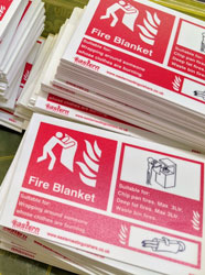 Fire Safety signs with Eastern Extinguishers Logo