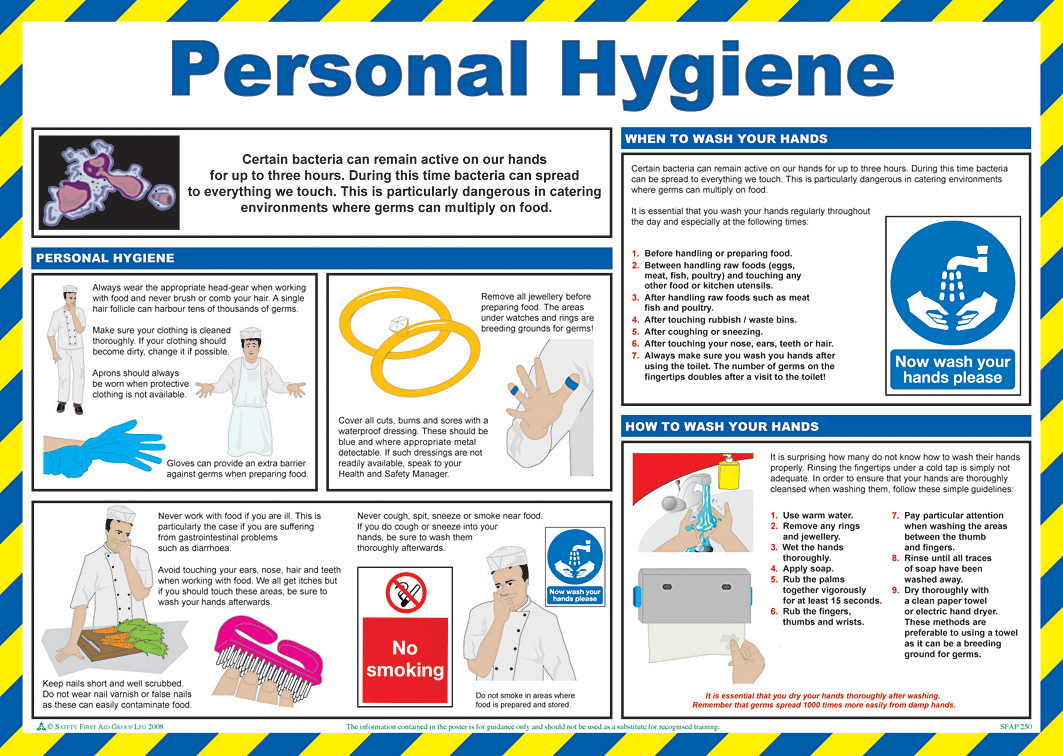 Personal Hygiene Poster From Safety Sign Supplies